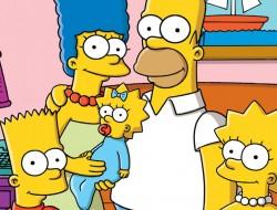 Fotografía de la familia Simpson al completo.