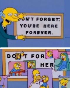 Homer y Maggie Simpson