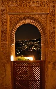 El Sacromonte visto desde la Alhambra