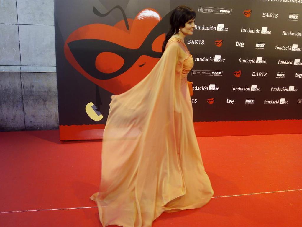Silvia Marsó en la alfombra roja de los @PremiosMax