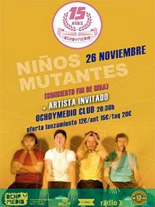 Cartel del concierto Niños Mutantes