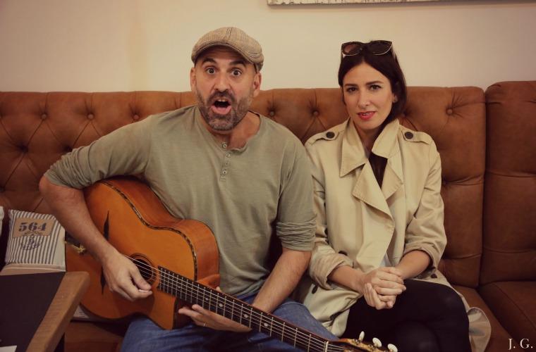 Rafa y Laura Insausti, guitarra y voz de Dry Martina