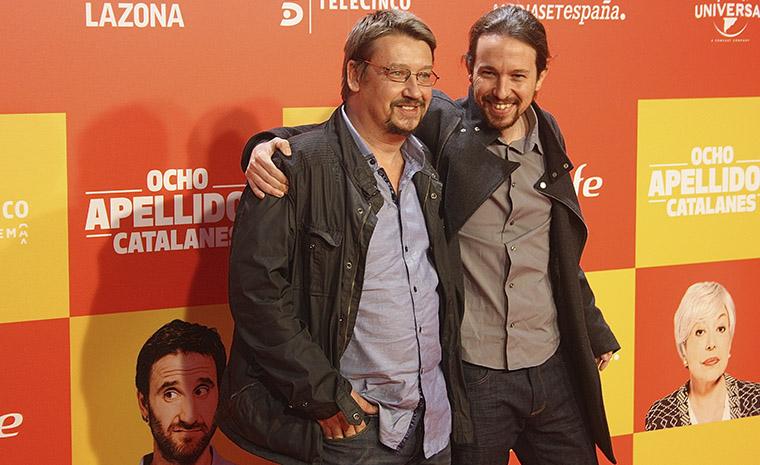 Xavier Domènech y Pablo Iglesias