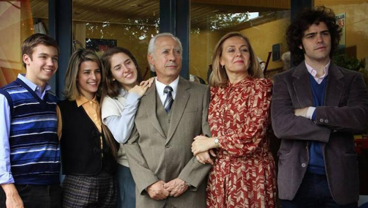 De izquierda a derecha, la familia Puccio: Guillermo, Silvia, Adriana, Arquímedes, Epifanía y Alejandro