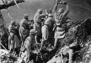 Soldados franceses en Verdún, 1916