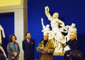 Julio López Hernández en la inauguración de la exposición