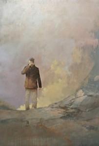 El último poeta · Federico Infante · 2015 · Acrílico sobre lienzo