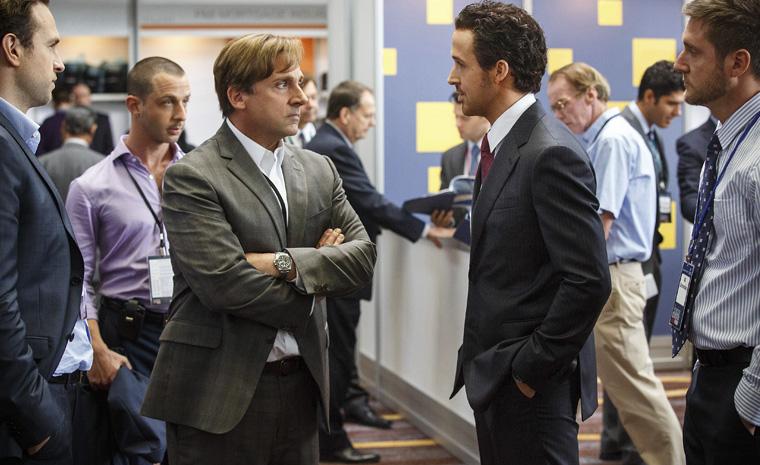 Steve Carell y Ryan Gosling en una escena de la película