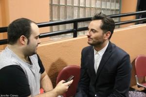 Asier Etxeandía durante la entrevista.