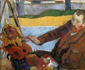Van Gogh pintando girasoles · Gauguin · 1888 · Óleo sobre lienzo