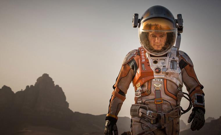 Matt Damon ha ganado recientemente el Globo de Oro a mejor actor de comedia o musical por su papel en 'Marte'