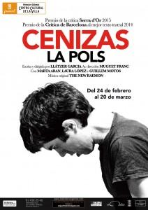 Cartel promocional de 'Cenizas' en Madrid