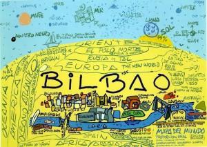 El famoso mapamundi de Bilbao