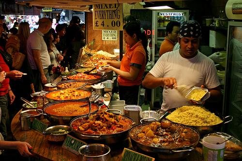 Puesto de comida en el Mercado de Camdem