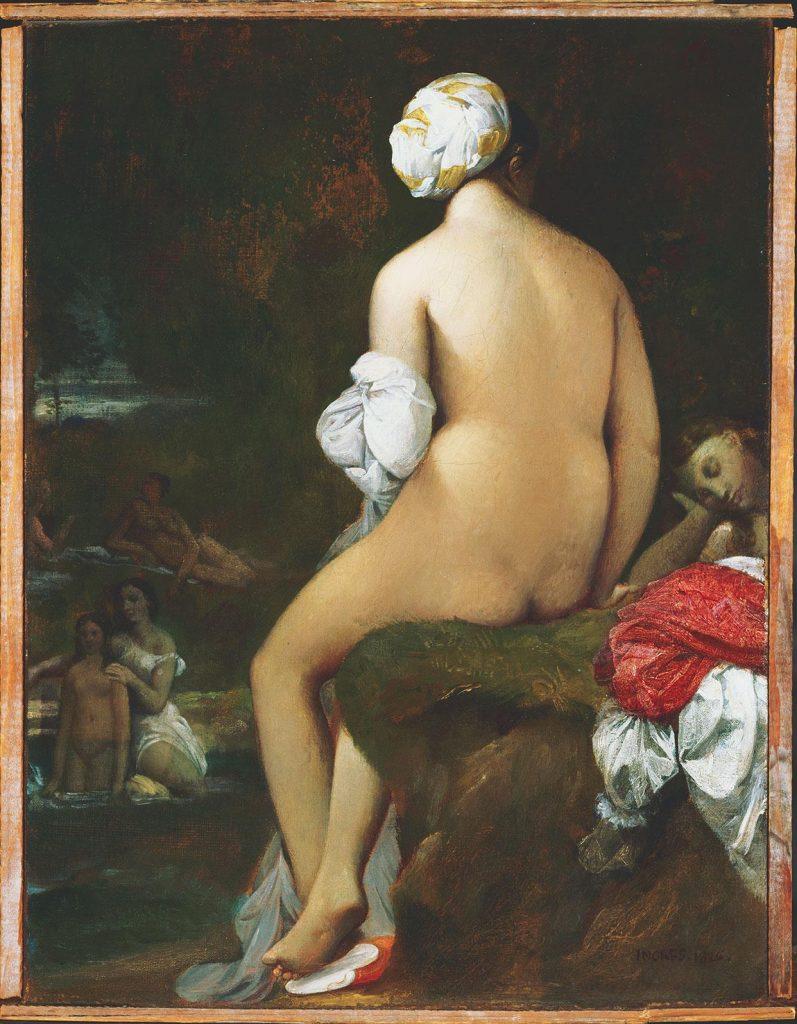 La pequeña bañista · Ingres · 1826 · Óleo sobre lienzo