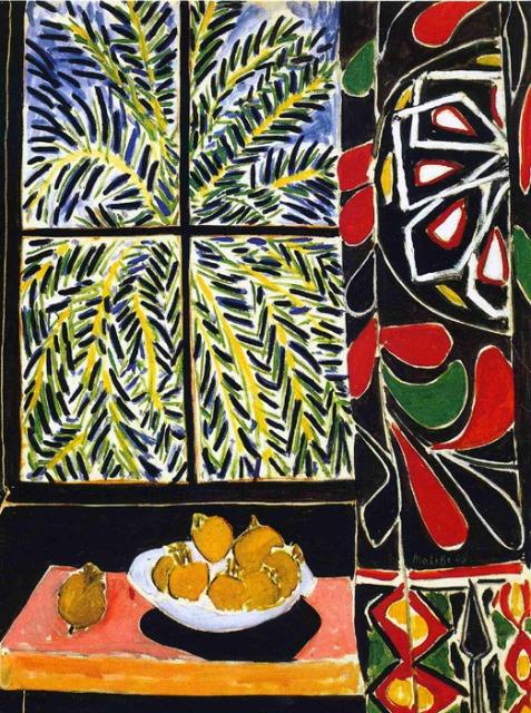 Matisse-Interior-con-cortina-egipcia-1948