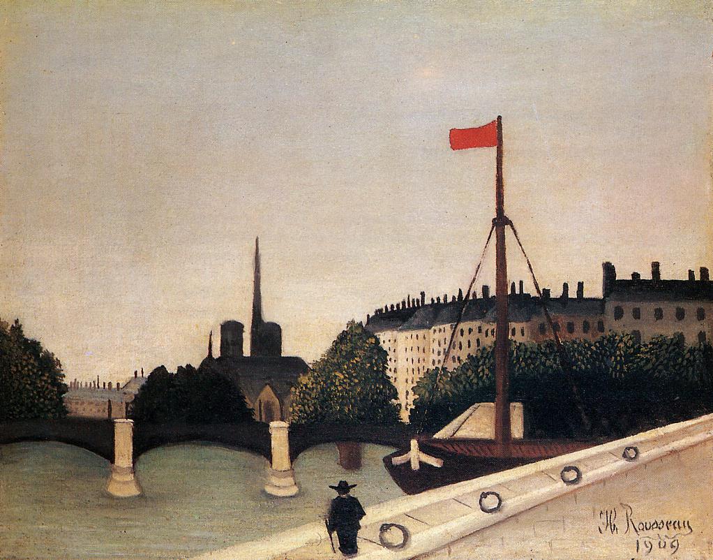 Notre Dame · Henri Rousseau · 1909 · Óleo sobre lienzo