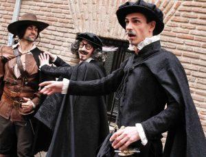 Alatriste, Quevedo y Lope de Vega durante el recorrido