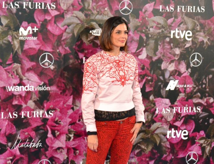 María Reyes en el estreno de Las Furias
