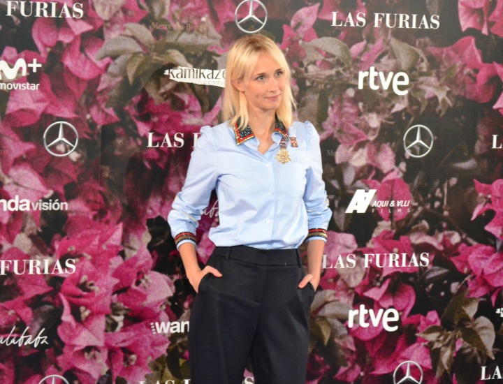 Ingrid Garcia-Jonsson en el estreno de las Furias