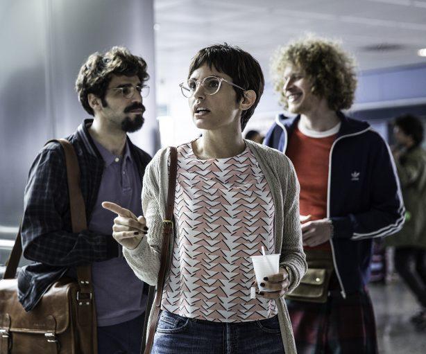 Verónica Echegi junto a David Verdaguer en No culpes al karma de lo que te pasa por gilipollas