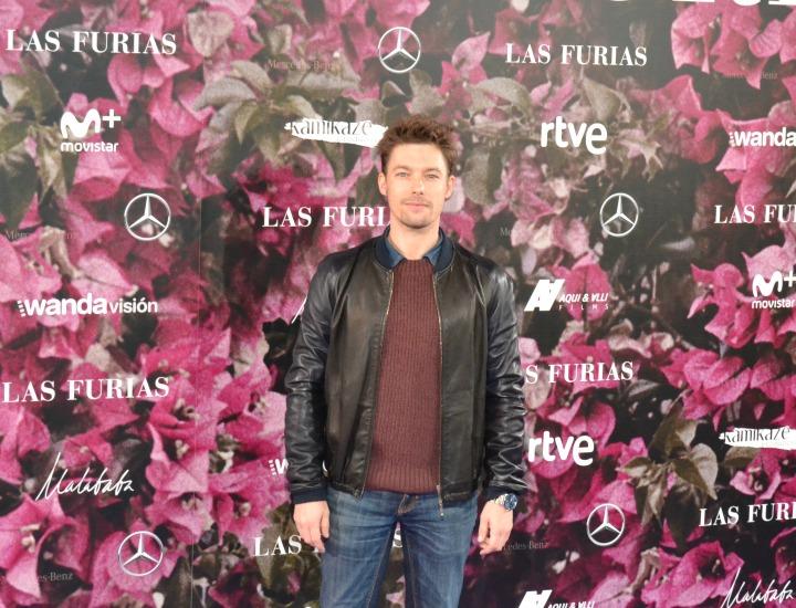 Jan Cornet en el estreno de Las Furias