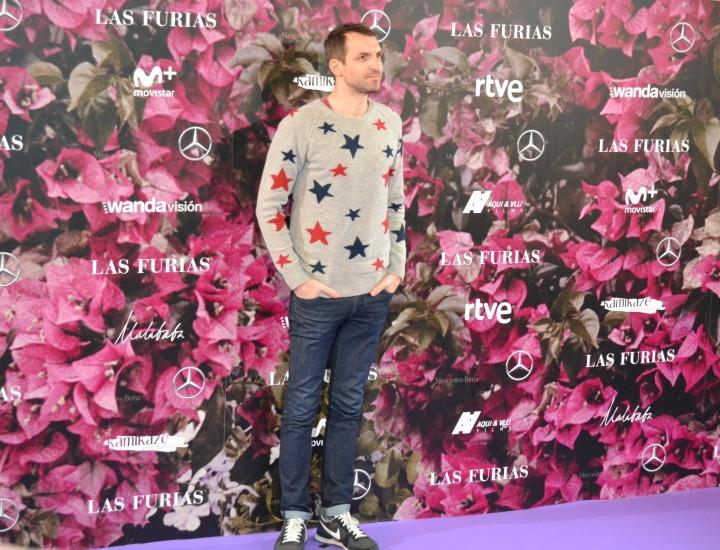 Julián Villagrán en el estreno de Las Furias
