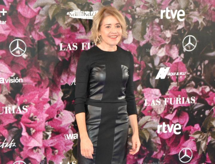María Pujalte en el estreno de Las Furias