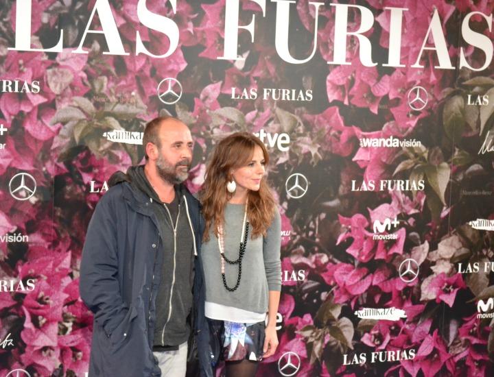 Myriam Gallego en el estreno de Las Furias