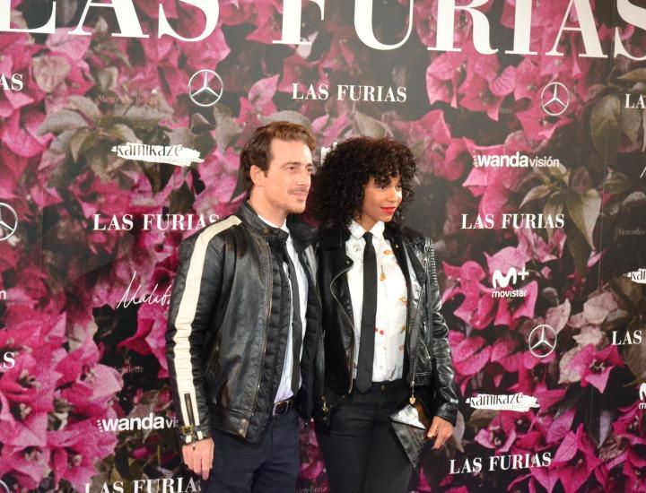 Victor Clavijo y Montse Pla en el estreno de Las Furias