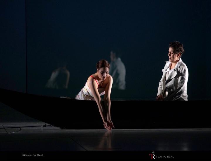 Imagen de la representación de La clemenza di Tito en el Teatro Real