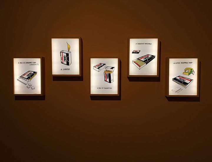 Cassetes música en la exposición de ¡Grabando!