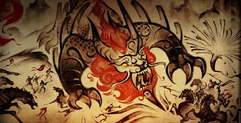 El Monstruo Nian en el dibujo