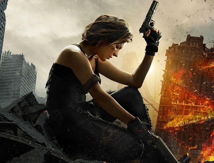 Alice, protagonizada por Milla Jovovich, en Raccoom City