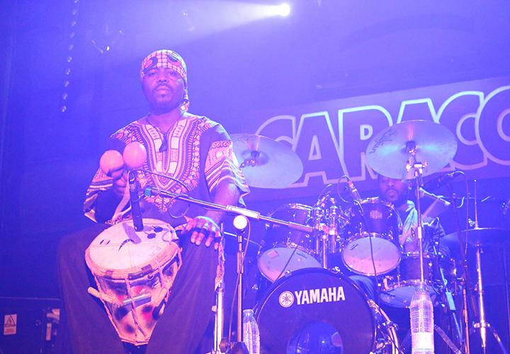 La destreza de la percusión y la batería (Foto: Karla Vivanco)
