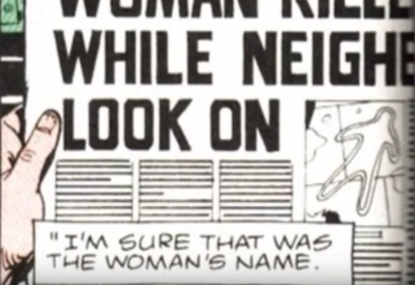 Viñeta de 'Watchmen', Rorschach descubre que conocía a Kitty