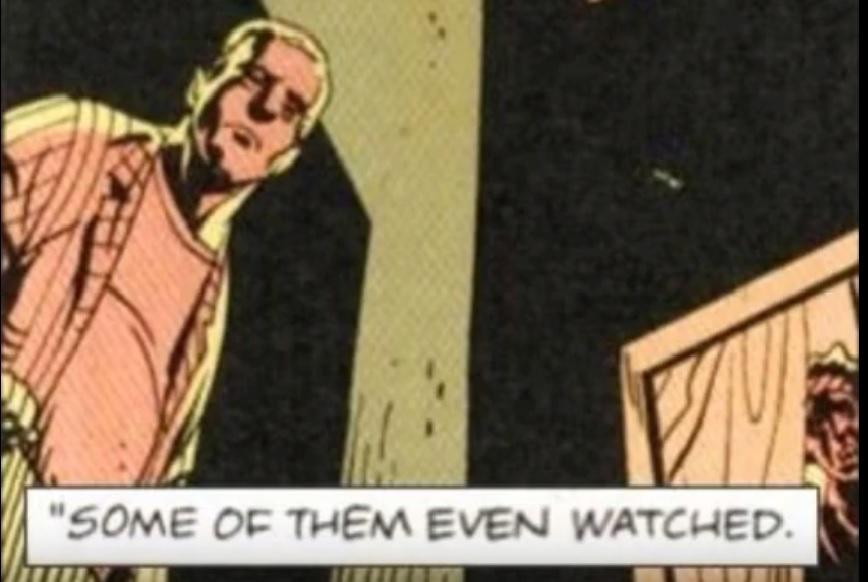 Viñeta de 'Watchment' en la que se refleja el pensamiento en la época sobre Kitty Genovese.