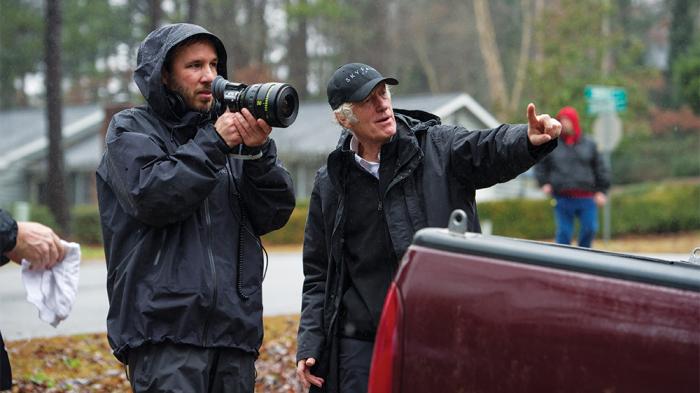 Denis Villeneuve y Roger Deakins durante el rodaje de 'Sicario'.