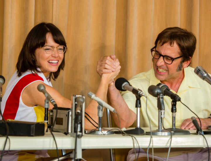 Emma Stone y Steve Carell.
