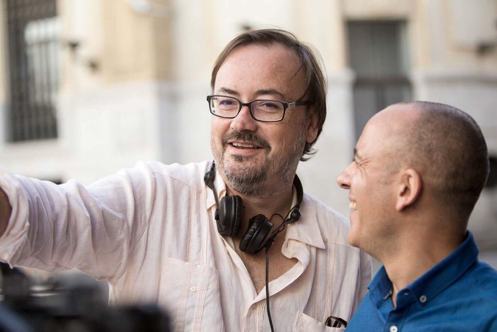 Manuel Martín Cuenta y Javier Gutiérrez, en el rodaje de 'El autor'. // Filmax