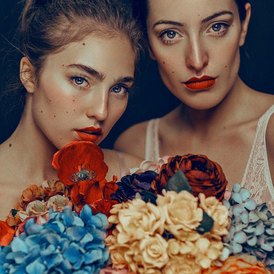 Retrato, dos mujeres.