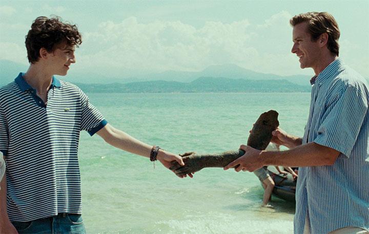 """Elio y Oliver hacen las paces en una escena de """"Call me by your name"""""""