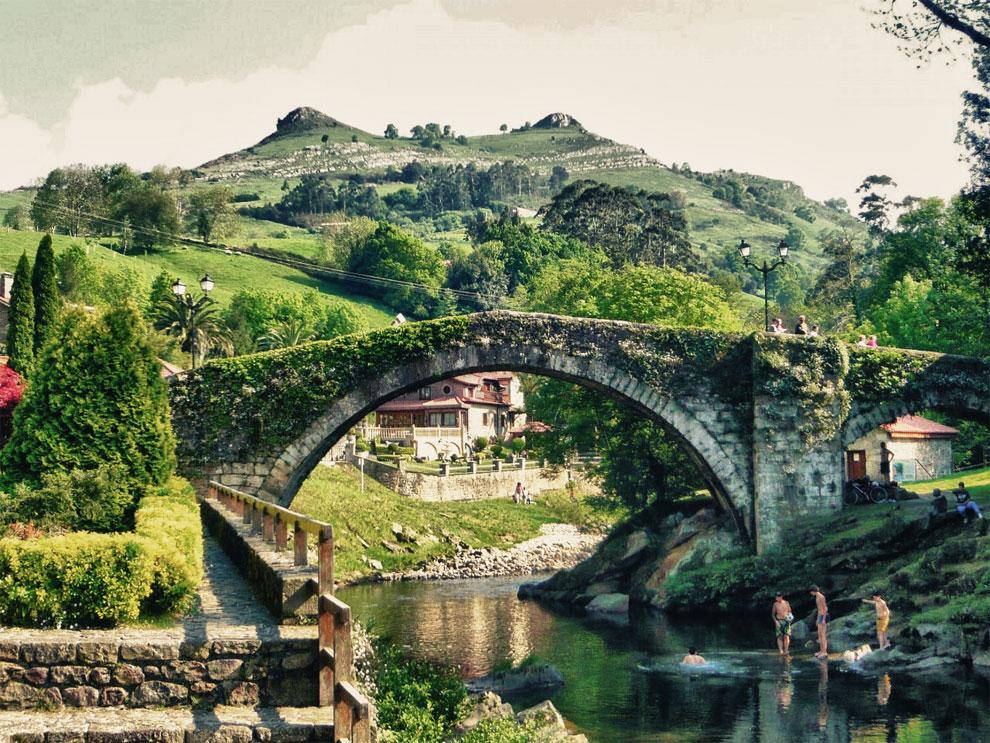 El viejo puente romano de Liérganes