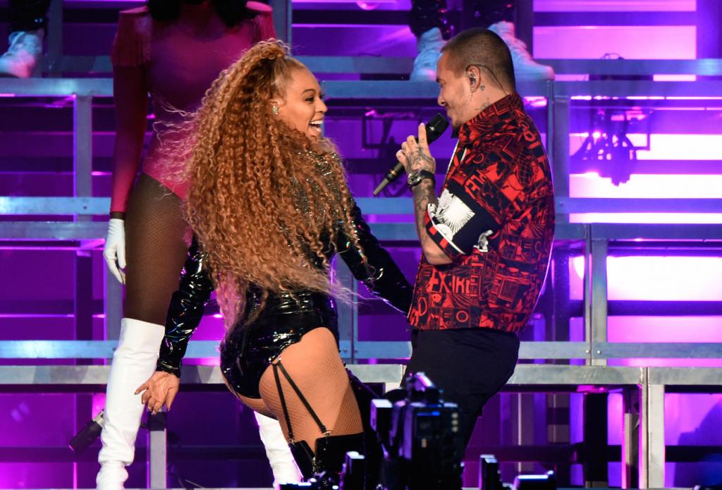 Beyoncé junto a J Balvin | Getty images
