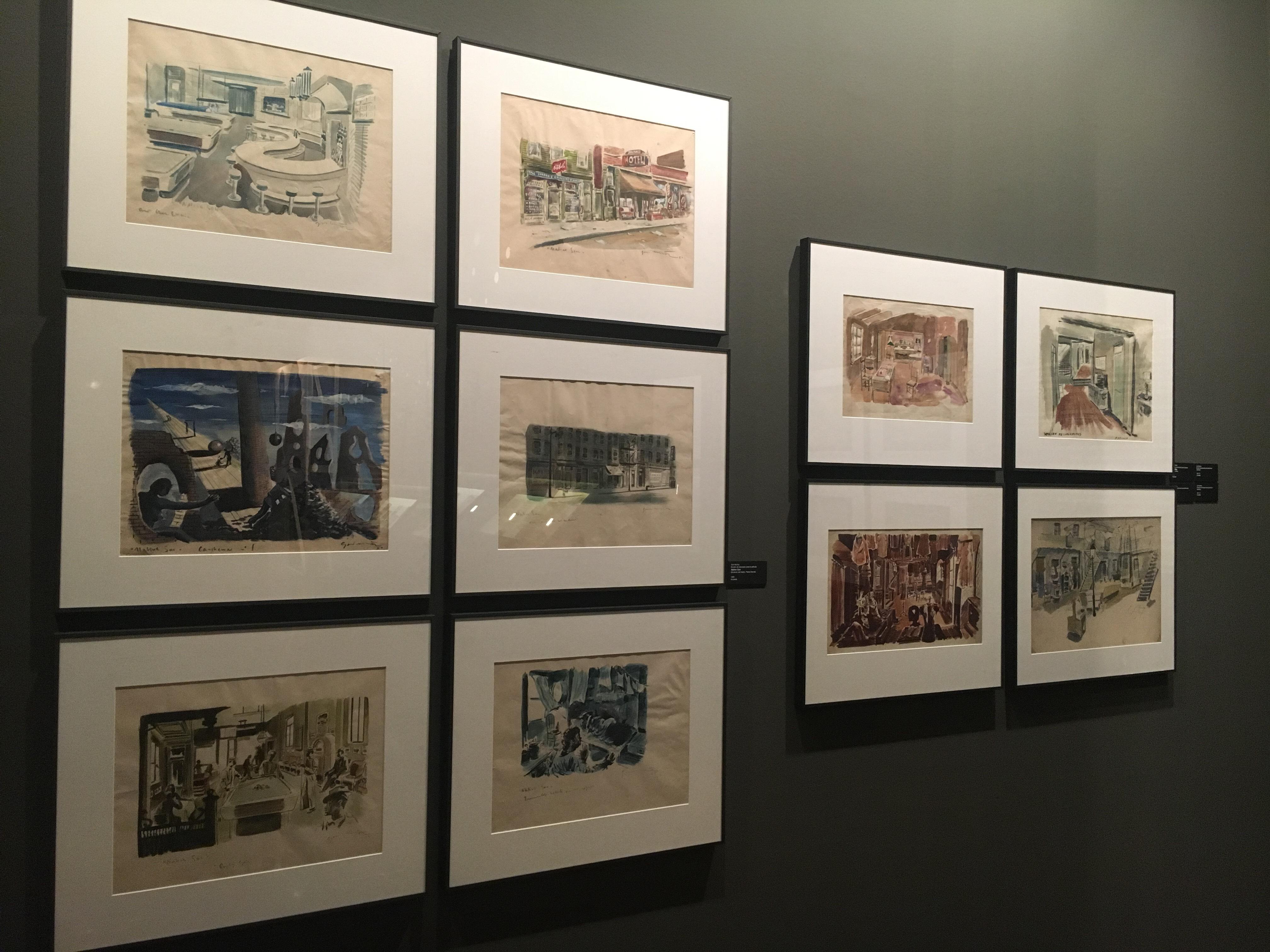 Bocetos de escenografías de la exposición 'Memoria de Luz' del Instituto Cervantes