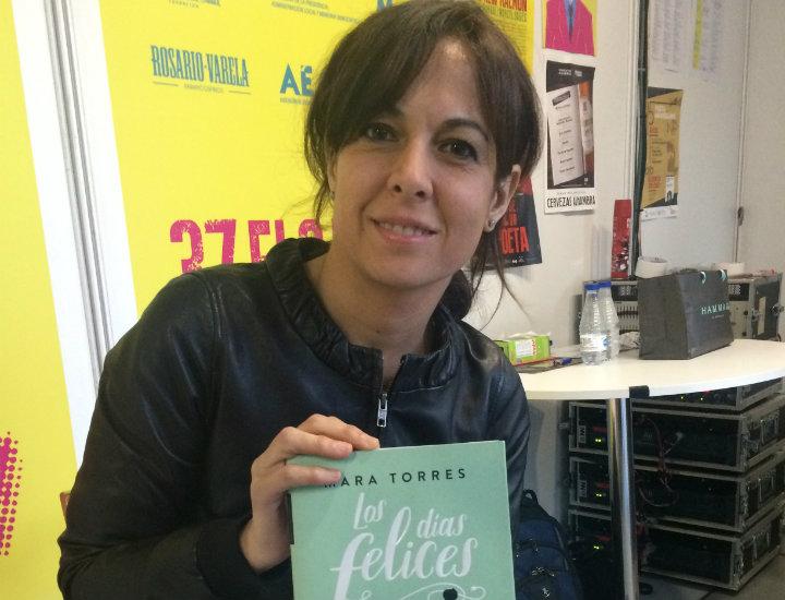 Mara Torres en la Feria del Libro de Granada 2018