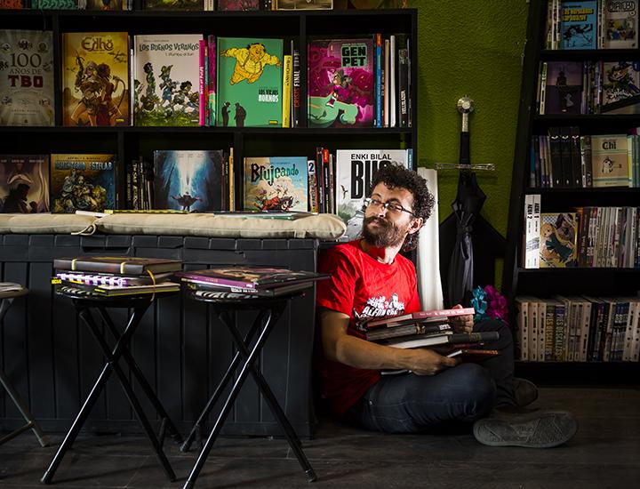 Suchi en la Librería Delirio. Foto: Alberto R. Roldán