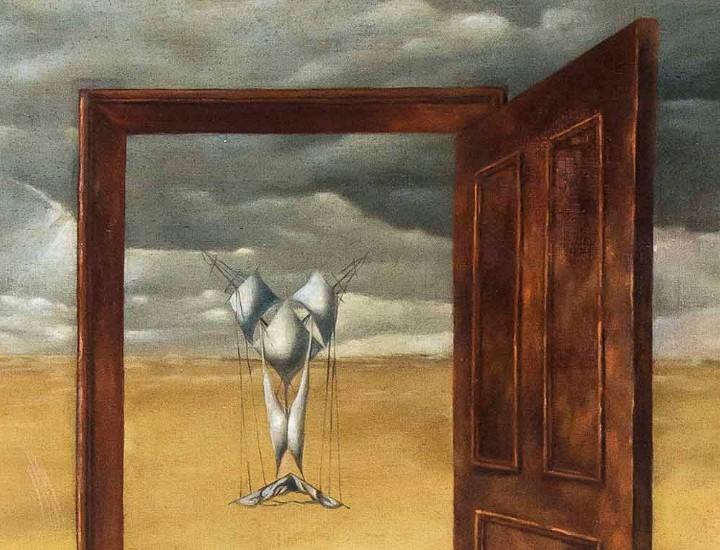 """Parte del cuadro """"Maternidad"""" (1946-1947) de Dorothea Tanning."""