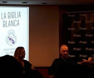 """Marta y Ángel del Riego Anta en la presentación de """"La Biblia Blanca""""."""