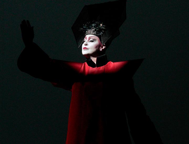 El personaje de Turandot en la ópera en el Teatro Real